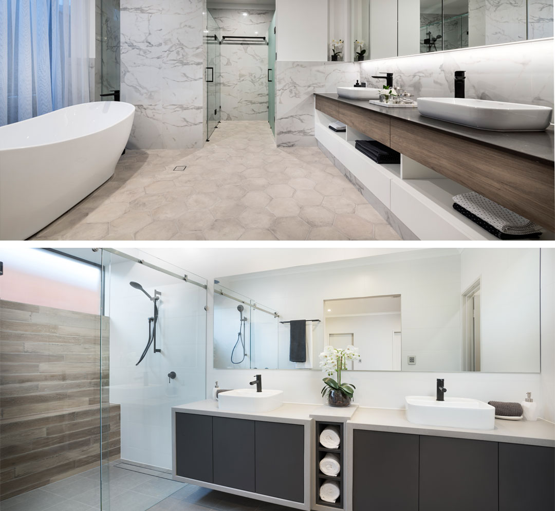 Image Credit: TOP - Stannard Homes, BOTTOM - Shelford Quality Homes